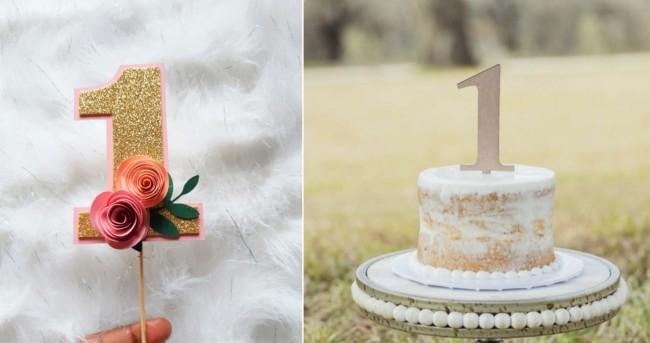 topo de bolo bodas de papel com numero 1