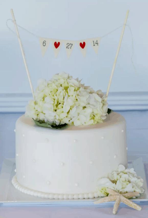 topo de bolo com data