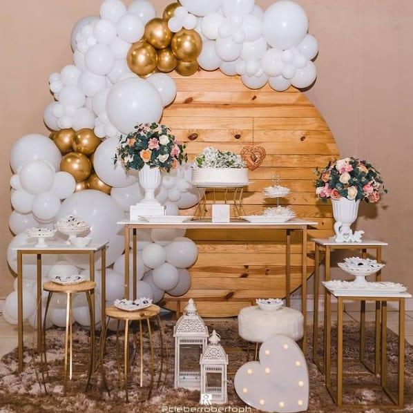 decoracao de festa de bodas de porcelana