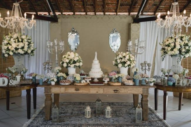decoracao de bodas de porcelana