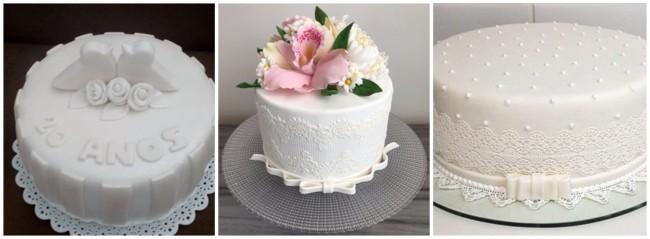 ideias de bolos para bodas de porcelana
