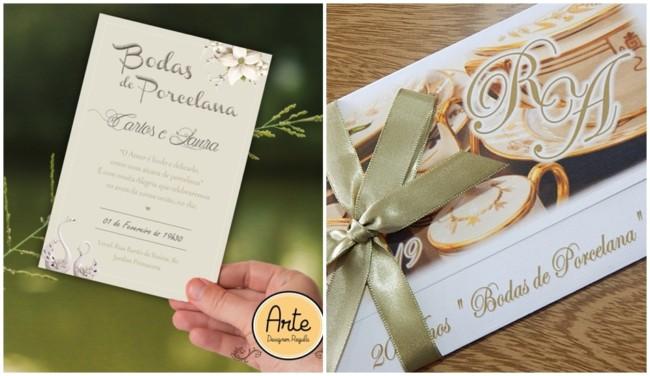 ideias de convites para bodas de porcelana