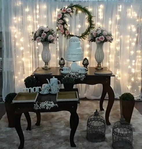 decoracao simples de bodas de porcelana