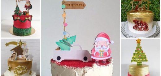 topo de bolo de natal