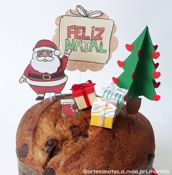 topo de bolo de arvore de natal