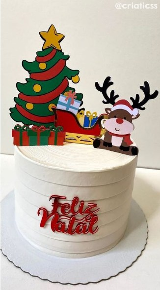 topper de bolo natalino