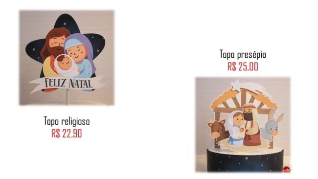 modelos e precos de topo de bolo de natal