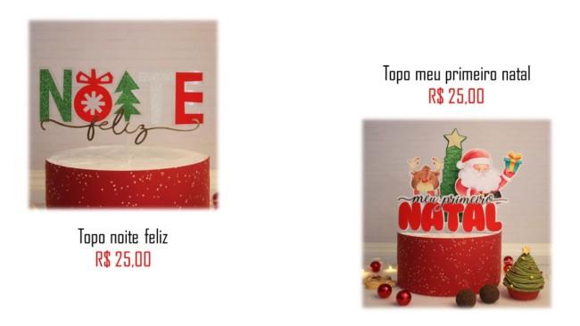 modelos de topo de bolo natalino