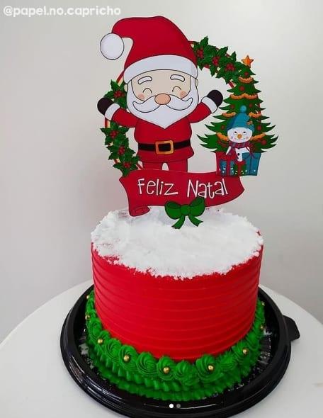 bolo de natal com topper